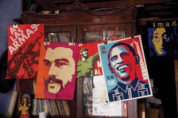Posters in a shop in Havana