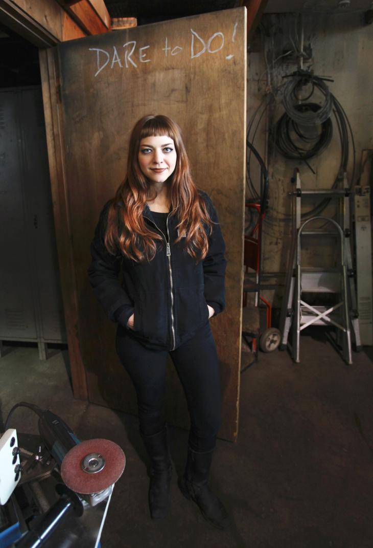 Chelsea Gaddy welding