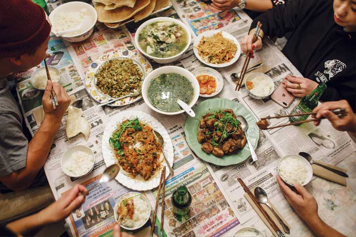 No Cookbooks team sits down to eat with the featured chef