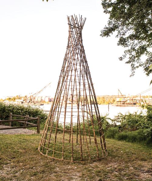 Fish Trap sculpture